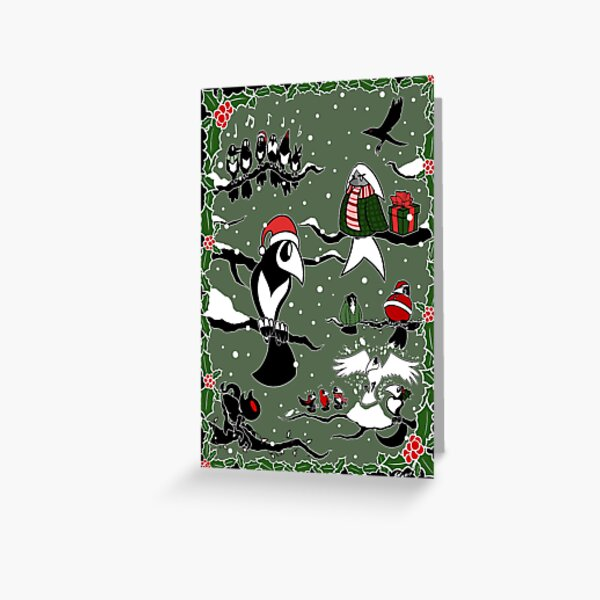 Various Happenings - Christmas Birbs Special Page Greeting Card