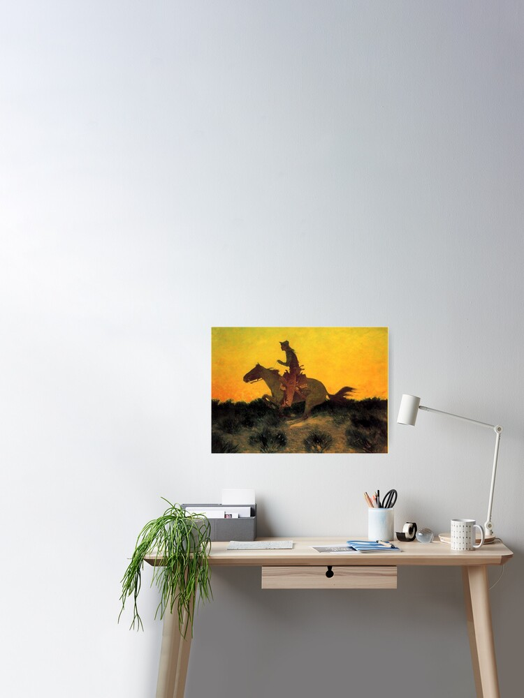 Frederic Remington WESTERN ART POSTER Tough Fighting
