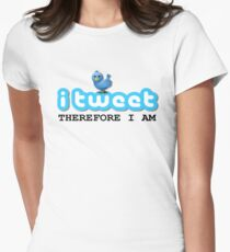 PERSONALISED Twitter Women's Fitted T-Shirt