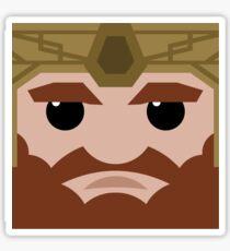 Dwarf Square Sticker
