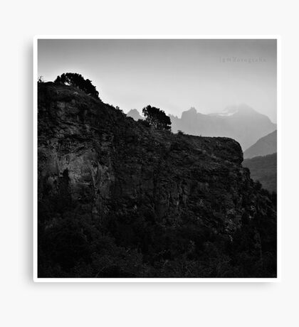 The Wall and The Mist Canvas Print