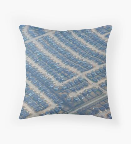 Views from Above: Abstract Suburbia Throw Pillow