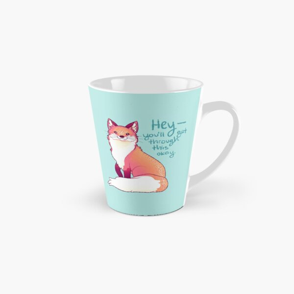 """HEY, you'll get through this okay"" Magical Sparkle Fox Tall Mug"