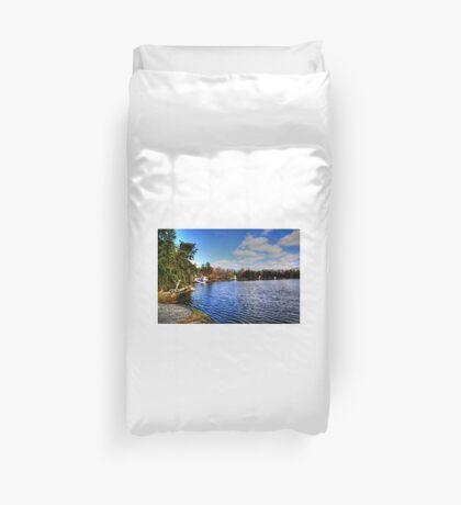 Red Rock Lake Duvet Cover