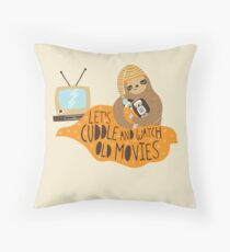 Let's Cuddle and Watch Old Movies Throw Pillow