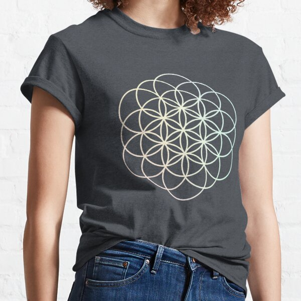 Pastel Rainbow Flower of Life Classic T-Shirt