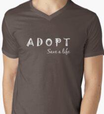 Adopt! Save a Life! Mens V-Neck T-Shirt
