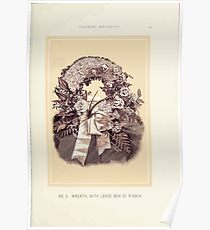 Floral Designs Series I a hand book for cut flower workers and florists John Horace McFarland 1888 0025 Wreath With Large Bow of Ribbon Poster