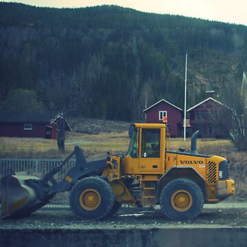 yellow tractor by tabletopjoe