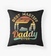Cojín de suelo Best Mastiff Daddy Ever Retro Vintage