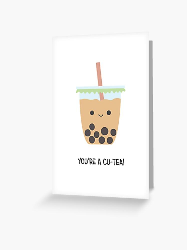 Boba card Boba Love card Best Tea