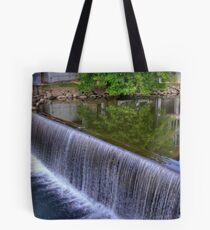 The Old Mill Dam in Pigeon Forge on The Little Pigeon River Tote Bag