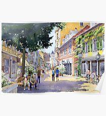 Germany Baden-Baden Lange Strasse Poster