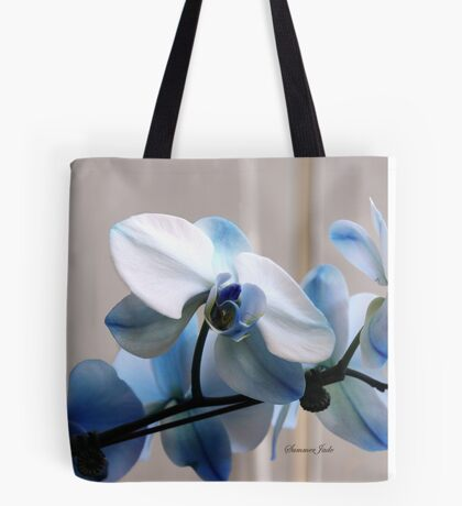 Crystal Blue Persuasion ~ Orchids Tote Bag