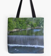 Water fall at Pigeon Forge on The Little Pigeon River  Tote Bag