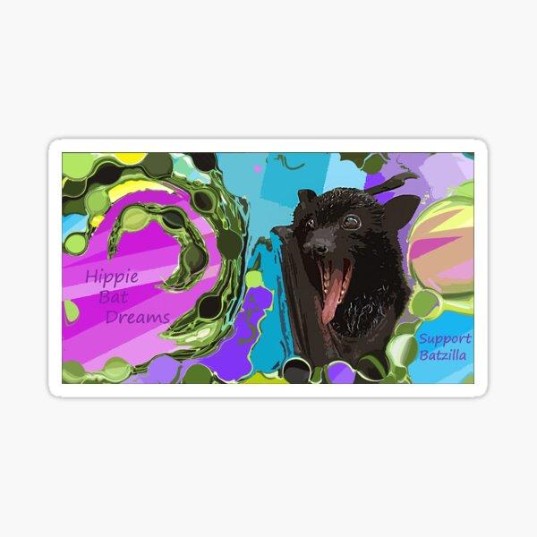 Batzilla - Hippie Bat Sticker  Sticker