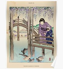 The flowers of Japan and the art of floral arrangement Josiah Conder 1892 0045 Wisteria Blossoms at Kameido Poster