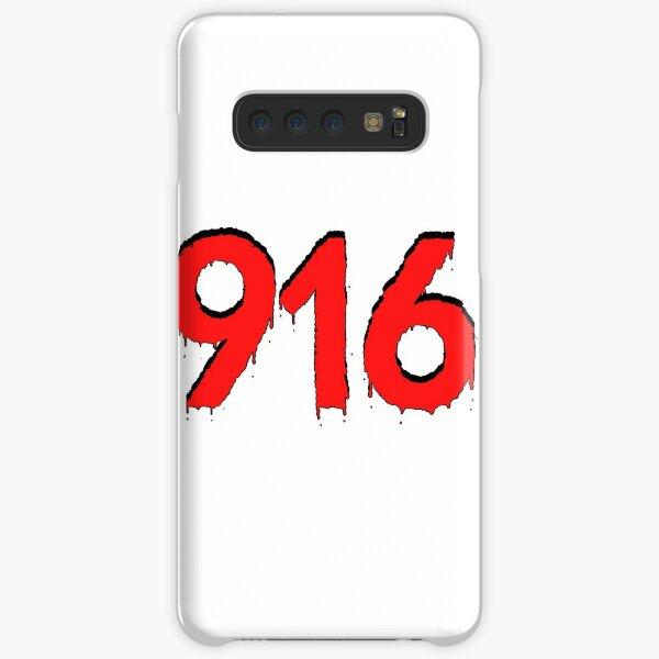916 Area Code - Red Samsung Galaxy Snap Case