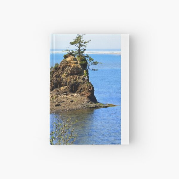Rock and Tree...off Hwy 101, Newport, Oregon Hardcover Journal