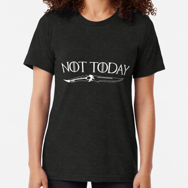 Arya Stark Slogan Not Today T Shirt Wolf Game Of Thrones Women Ladies Gift Top