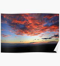 Sunset over Guanacaste Poster