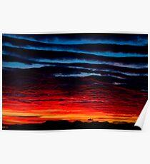 Expoding sunset Poster
