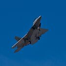 An F-22 Raptor returns to Nellis by Henry Plumley