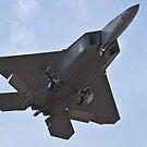F-22 Raptor belly shot by Henry Plumley