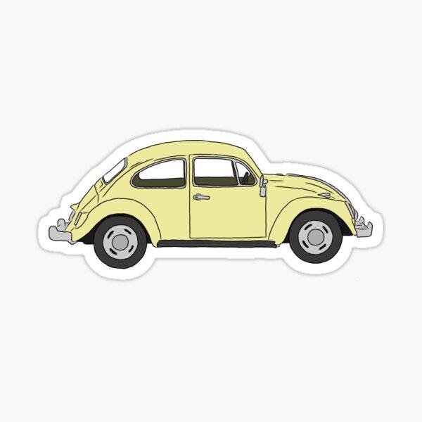 Yellow Volkswagen Beetle Sticker