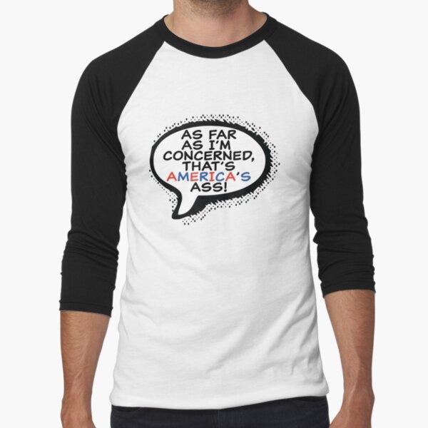 That's America's Ass Baseball ¾ Sleeve T-Shirt