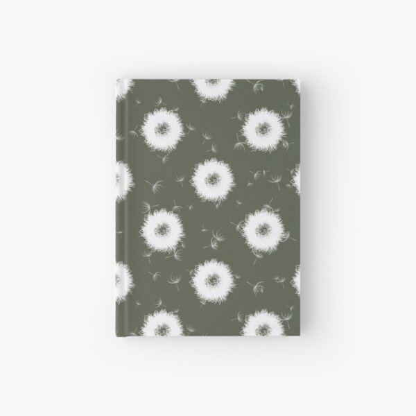 Abstract dandelions Hardcover Journal