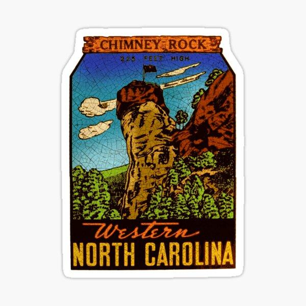 Chimney Rock North Carolina USA vintage Decal Sticker