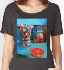 Bunte Verzierungen Loose Fit T-Shirt