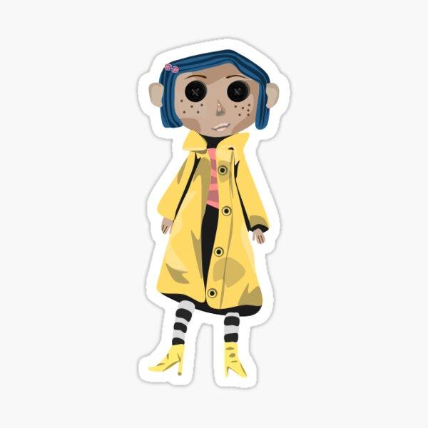 Etiqueta engomada de la muñeca de Coraline Pegatina