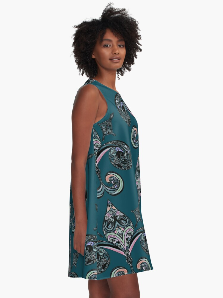 Alternate view of Fleur-de-lis A-Line Dress