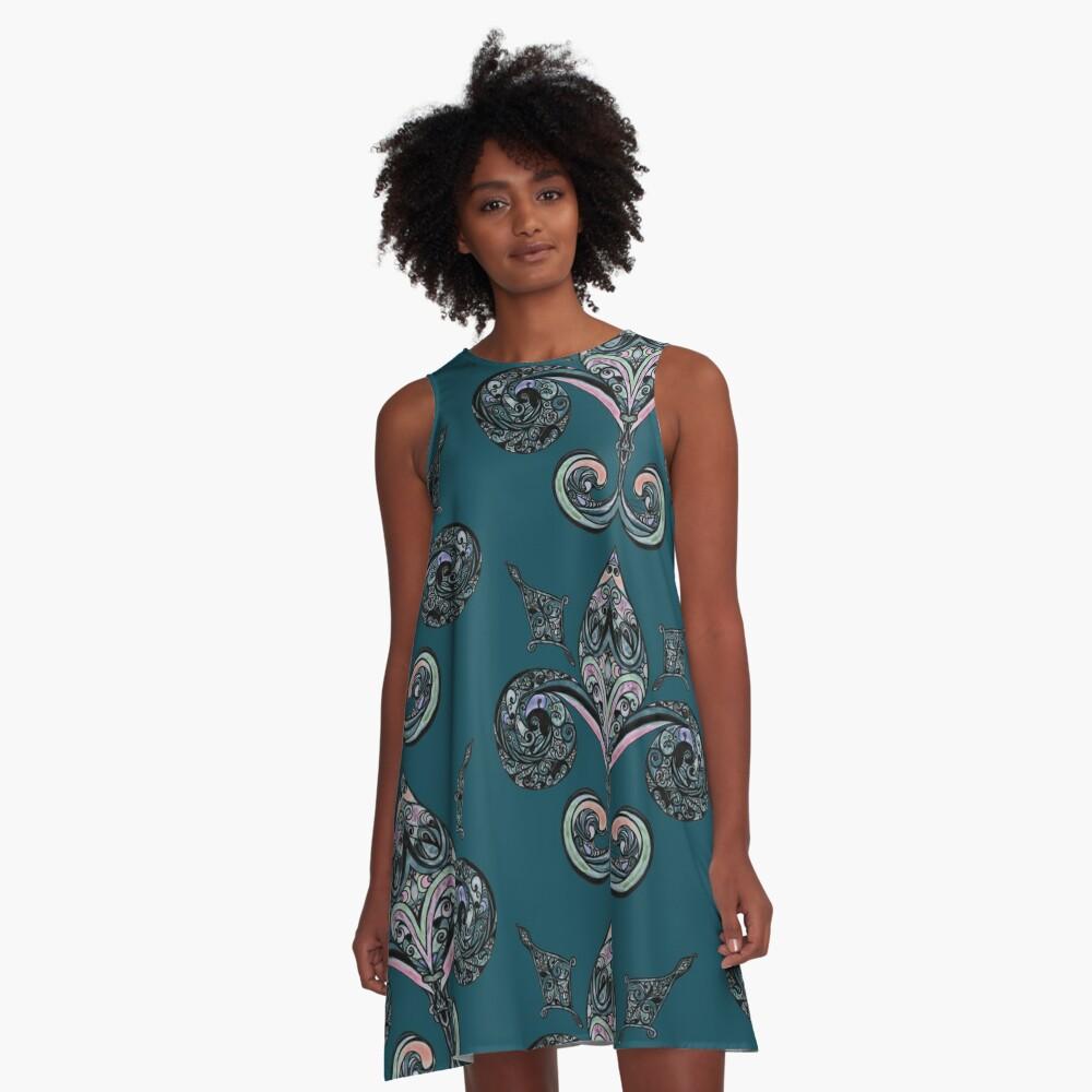 Fleur-de-lis A-Line Dress