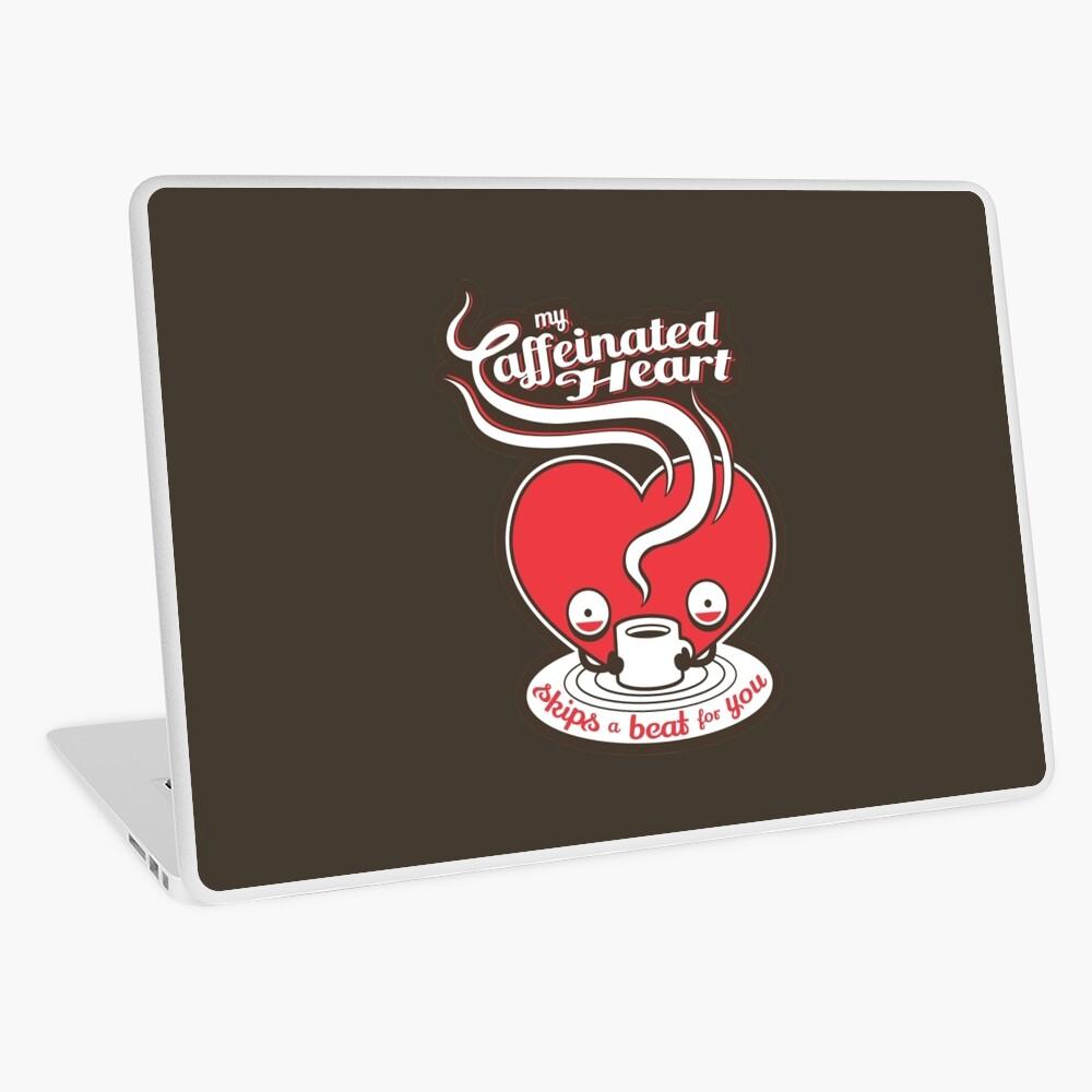 Mein koffeinhaltiges Herz Laptop Folie