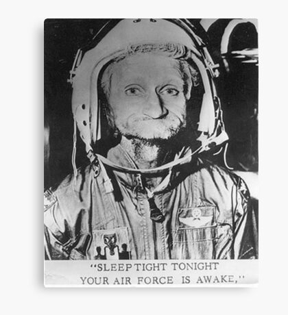 Sleep Tight Tonight Your Air Force is Awake Canvas Print