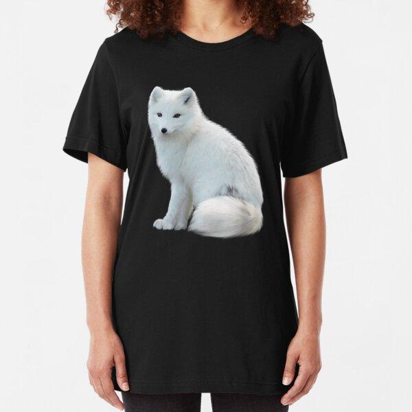 Arctic Fox T-Shirt, The white fox, polar fox, or snow fox Shirts & Stickers Slim Fit T-Shirt