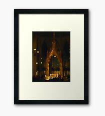 Inside St Patrick's Cathedral Framed Print