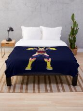 All Might outline Throw Blanket