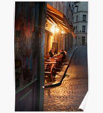 Night at the Mouffetard Café Poster