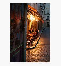 Night at the Mouffetard Café Photographic Print