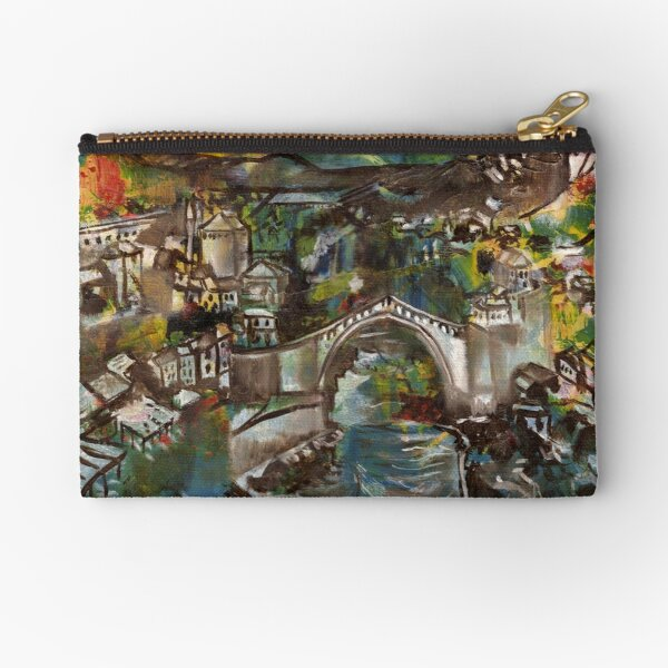 'Stari Most' - Mostar Bridge, Bosnia-Herzegovina Zipper Pouch
