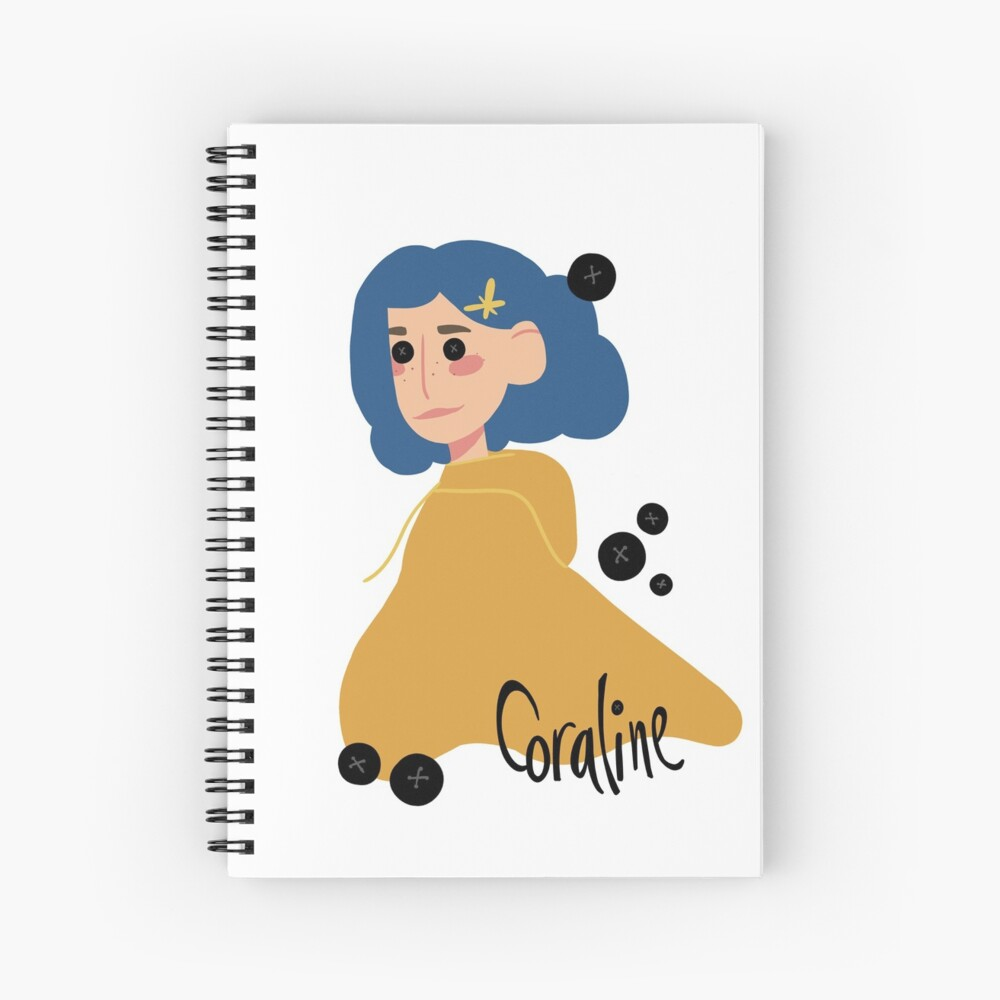 Coraline Button Eyes Hardcover Journal By Smileyjuley Redbubble