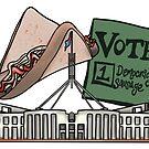 Vote 1: Democracy Sausage by Ohlittlespark