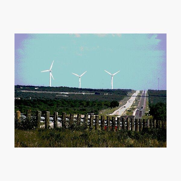 texas wind farm Photographic Print