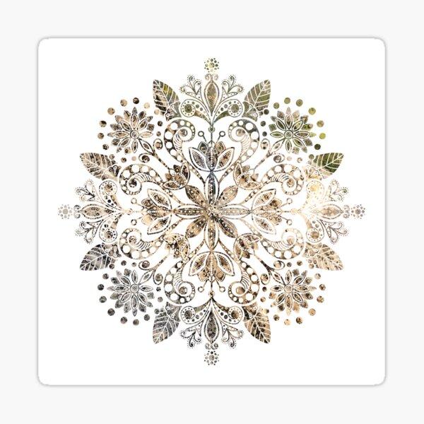"""""""Bouquet Of Flowers""""   Leopard Mandala Sticker"""