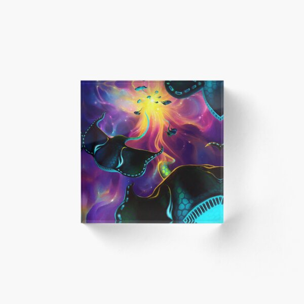Space Rays Acrylic Block
