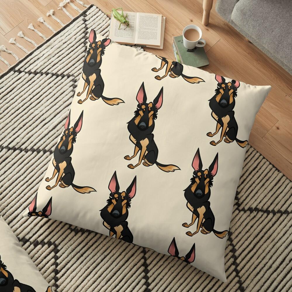 Black and Tan Shepherd Floor Pillow